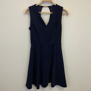 Ted Baker Navy Fit and Flare Dress Sz 2